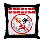 Get Out Of the United Nations Throw Pillow