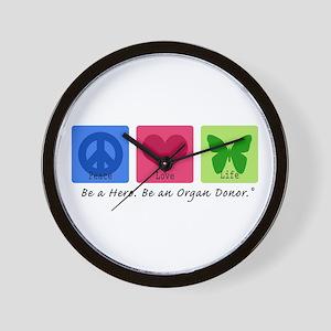 Peace Love Life Wall Clock