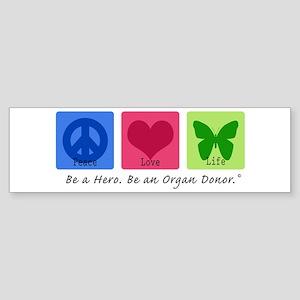 Peace Love Life Bumper Sticker