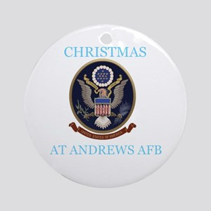 christmas at andrews afb Ornament (Round)