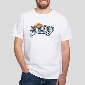 Argentina Soccer White T-Shirt
