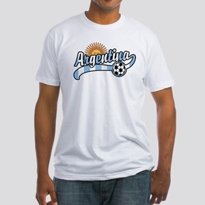 Argentina Soccer Fitted T-Shirt