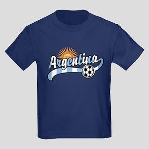 Argentina Soccer Kids Dark T-Shirt