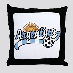 Argentina Soccer Throw Pillow