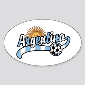 Argentina Soccer Oval Sticker