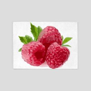 Raspberries 5'x7'Area Rug