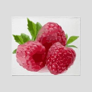 Raspberries Throw Blanket