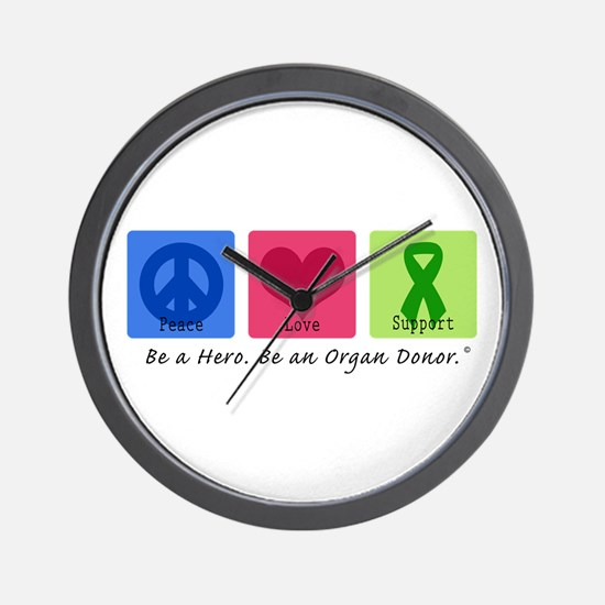 Peace Love Support Wall Clock