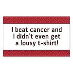 Cancer - Lousy T-Shirt Rectangle Sticker 50 pk)