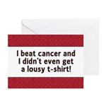 Cancer - Lousy T-Shirt Greeting Cards (Pk of 20)