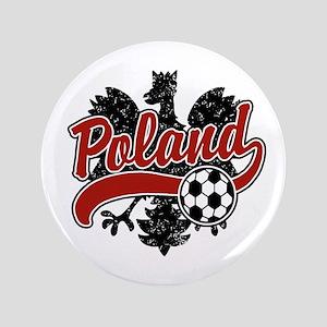 """Poland Soccer 3.5"""" Button"""