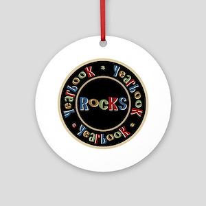 Yearbook Rocks Ornament (Round)