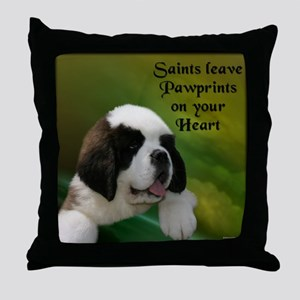 St. Bernard Baby Throw Pillow