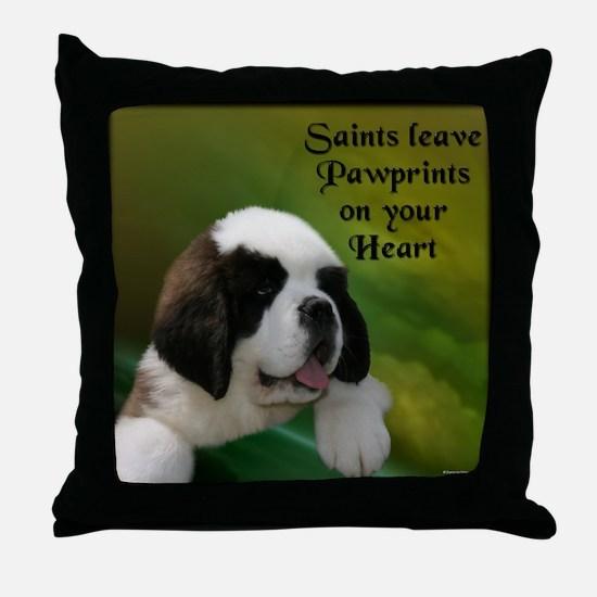 St. Bernard Baby Throw Pillow
