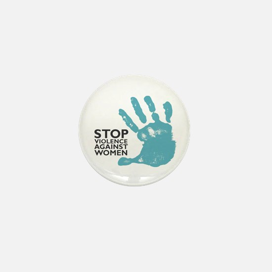 Stop Violence VS Women Mini Button