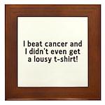 Cancer - Lousy T-Shirt Framed Tile