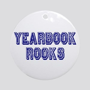 Yearbook Rocks Distressed Ornament (Round)