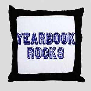 Yearbook Rocks Distressed Throw Pillow