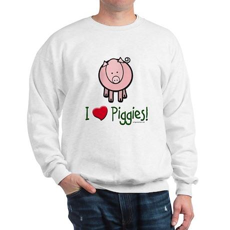 I heart piggies Sweatshirt