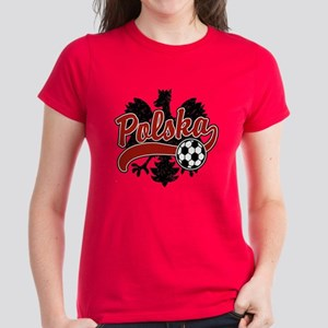 Polska Soccer Women's Dark T-Shirt