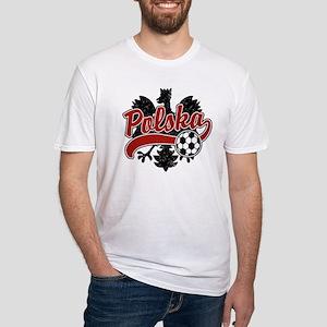 Polska Soccer Fitted T-Shirt