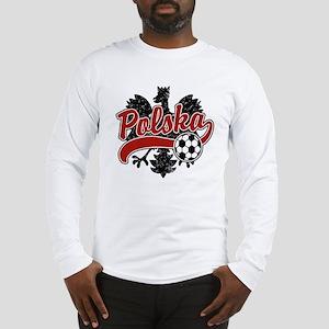 Polska Soccer Long Sleeve T-Shirt