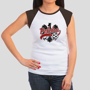 Polska Soccer Women's Cap Sleeve T-Shirt
