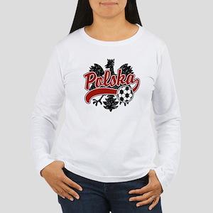 Polska Soccer Women's Long Sleeve T-Shirt