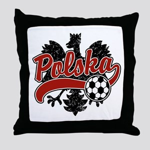 Polska Soccer Throw Pillow