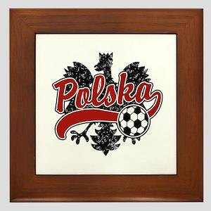 Polska Soccer Framed Tile