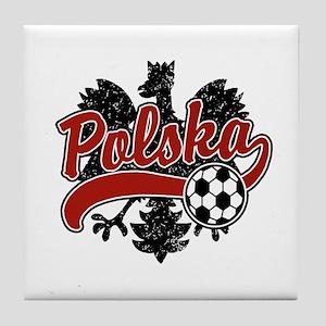 Polska Soccer Tile Coaster