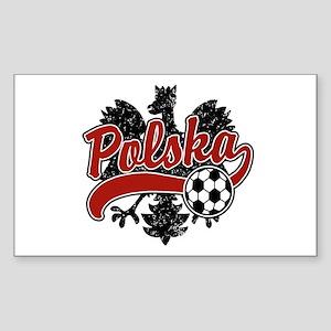 Polska Soccer Rectangle Sticker
