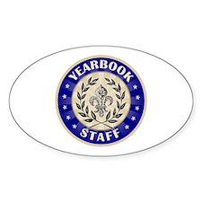 Yearbook Staff Oval Sticker