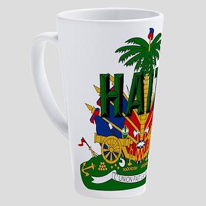Haitian Coat Of Arms 17 Oz Latte Mug