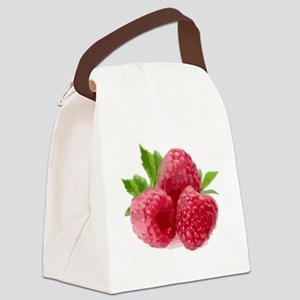 Raspberries Canvas Lunch Bag