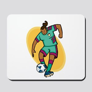 Soccer Girl - Green/Purple Mousepad