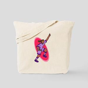 Soccer girl - purple Tote Bag