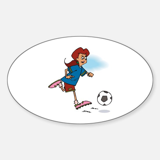 Soccer Girl Oval Decal