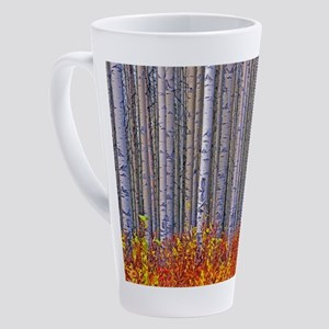 Aspen forest in autumn 17 oz Latte Mug