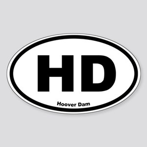 Hoover Dam Oval Sticker