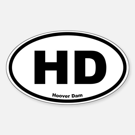Hoover Dam Oval Decal