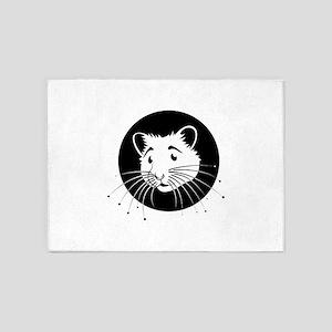Hamster 5'x7'Area Rug