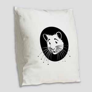 Hamster Burlap Throw Pillow