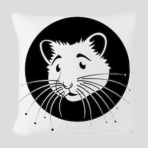 Hamster Woven Throw Pillow