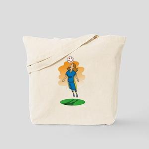 Header Soccer Girl Tote Bag