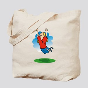 Jumping Girl Tote Bag
