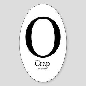O Crap - Oval Sticker