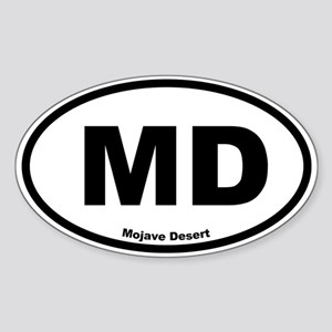 Mojave Desert Oval Sticker
