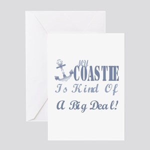 my coastie is kind of a big deal. Greeting Card