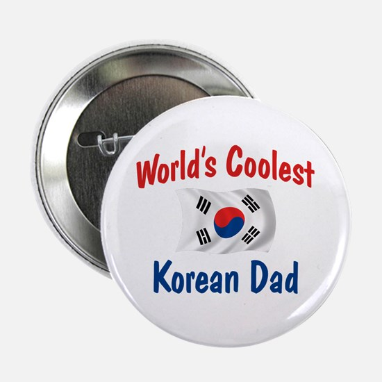 "Coolest Korean Dad 2.25"" Button"
